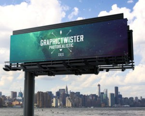 Мокап билборда. billboard mockup