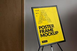 PSD мокап рамки с постером. Poster Mockup