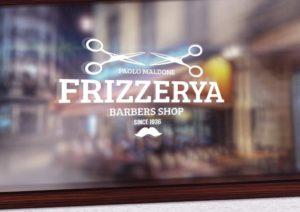 мокап лого на стекле. window logo sticker mockup