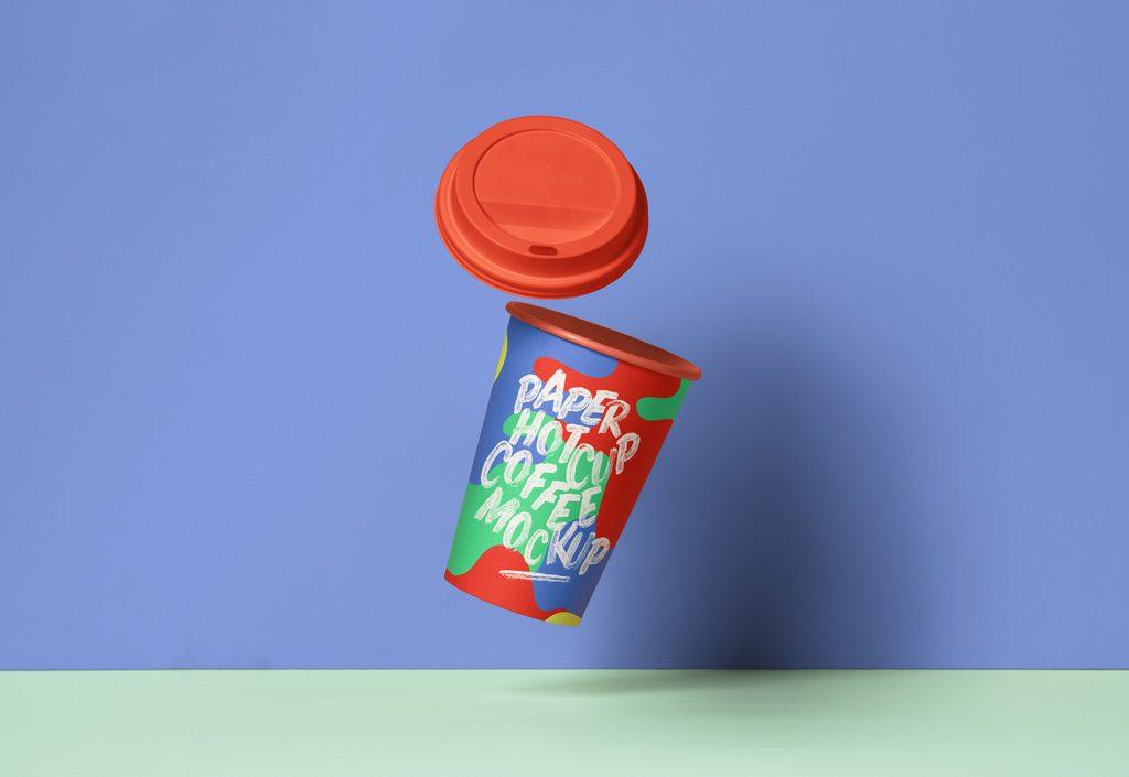 Мокап стаканчика с крышкой. coffee cup mockup
