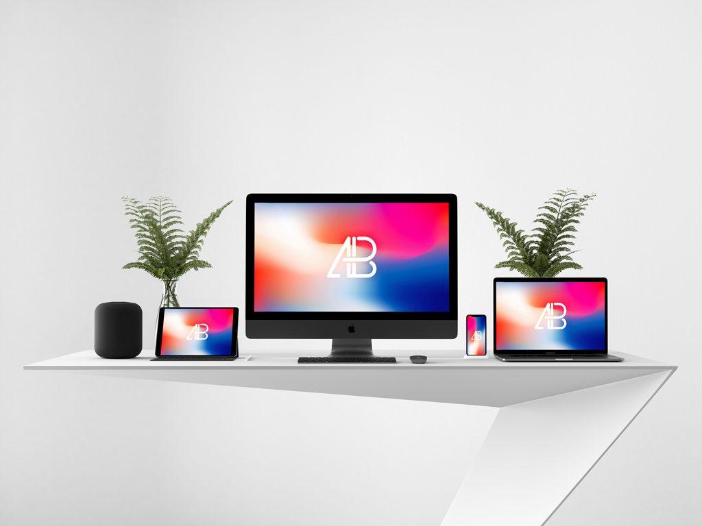 PSD мокап apple устройств