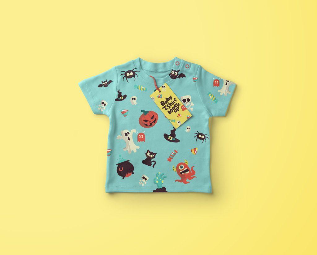 Мокап детской футболки. baby shirt mockup