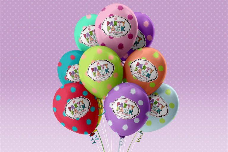 Мокап воздушных шаров. balloons mockup