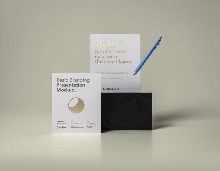 Мокап бланков. simple branding paper mockup