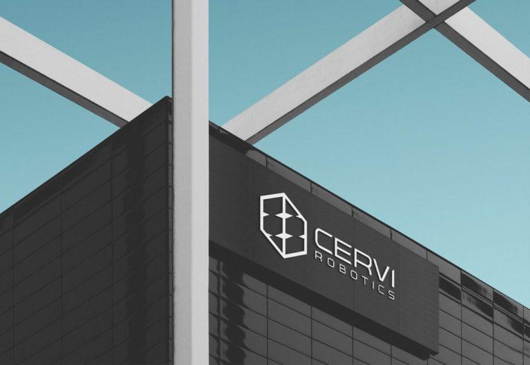 Мокап лого на стене здания. building logo mockup