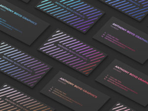 Мокап визитки на темном фоне. business card mockups