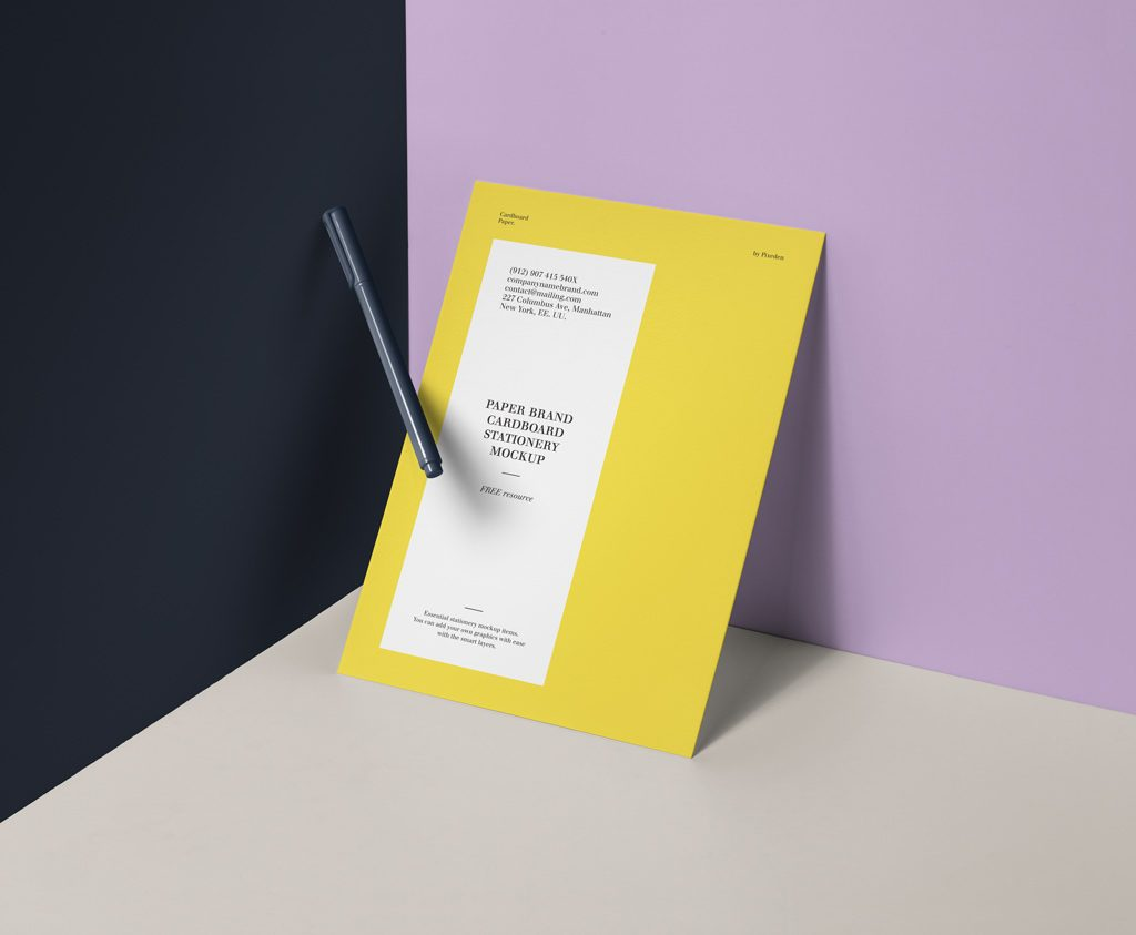 Мокап листа А4. paper brand mockup