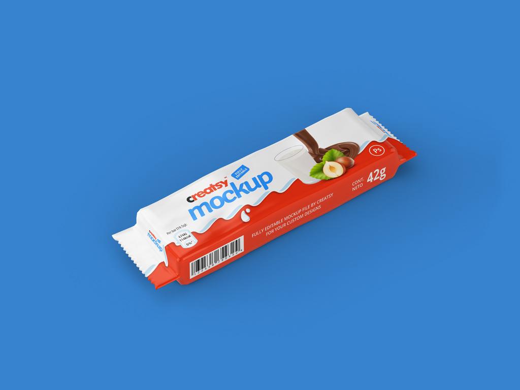 Mockup шоколадного батончика. bar package mockup