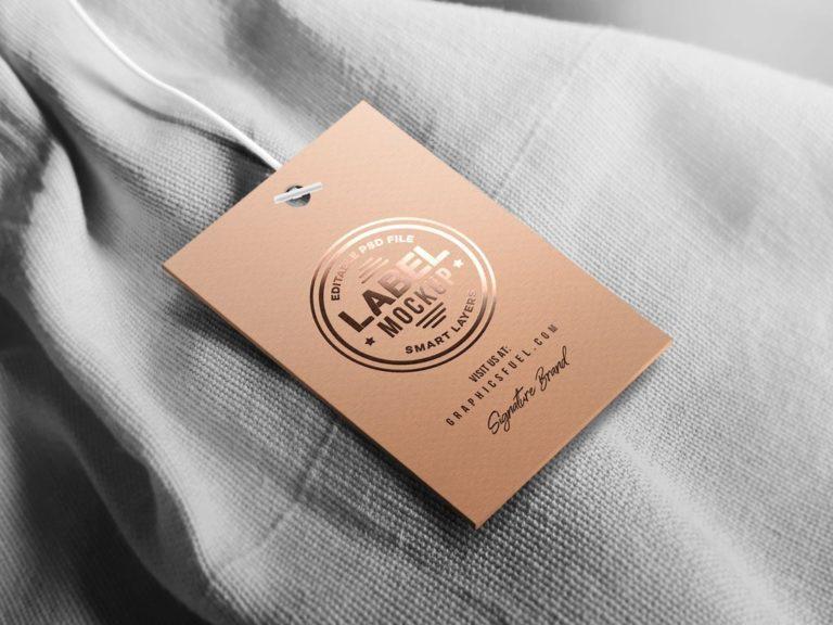 Мокап бирки для одежды. clothing tag mockup