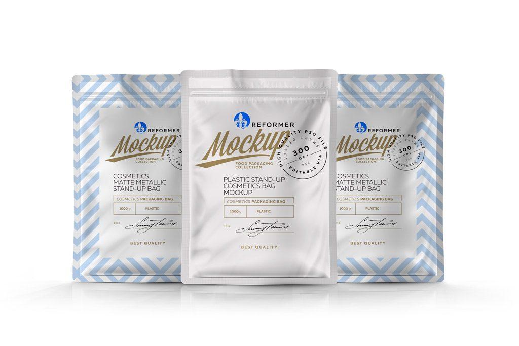 Мокап зип-пакета. pouch packaging mockup