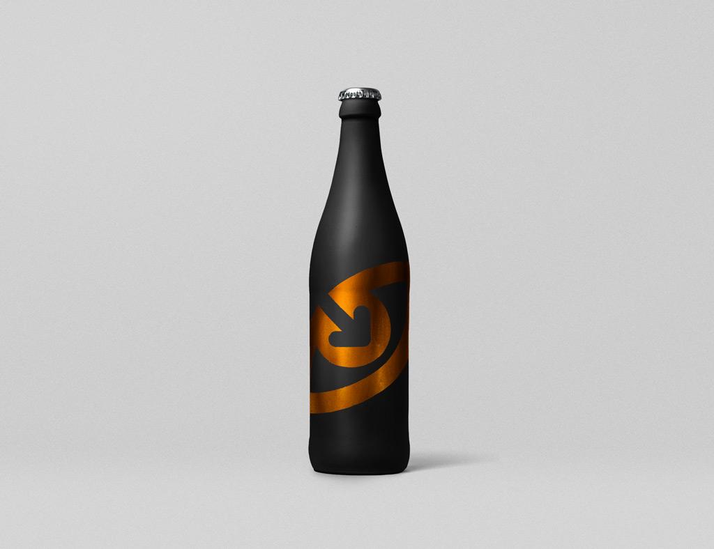 PSD макет бутылки