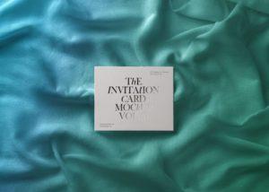 мокап пригласительного. invitation card mockup