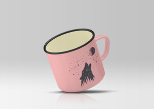 Mockup кружки. enamel mug mockup