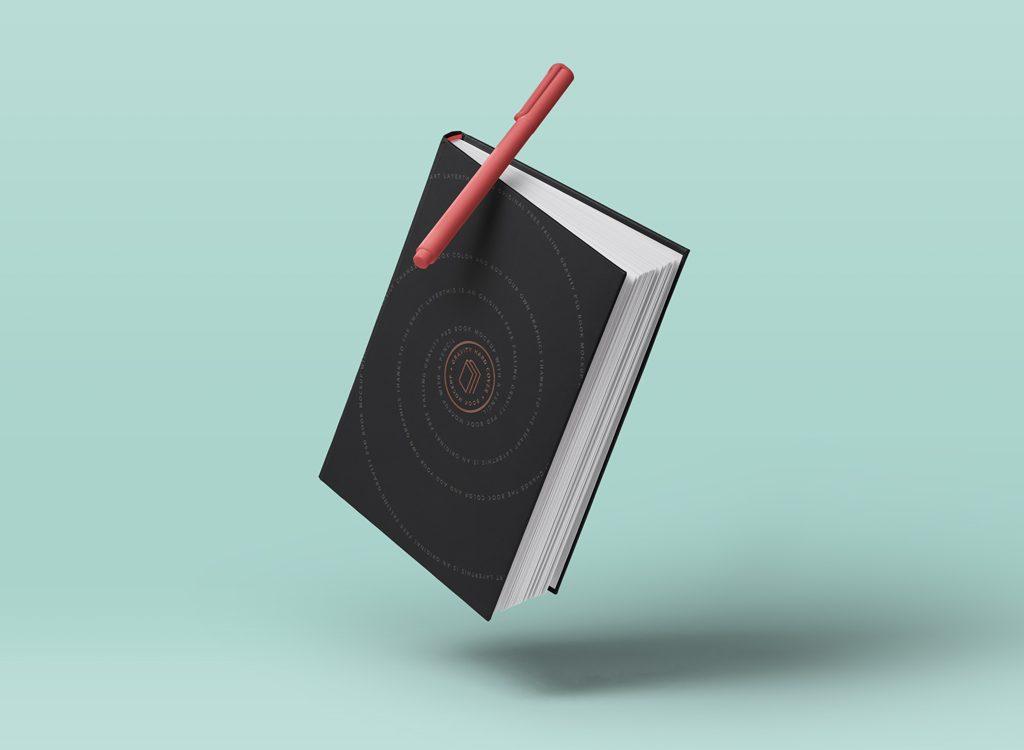 Mockup блокнота. psd book mockup