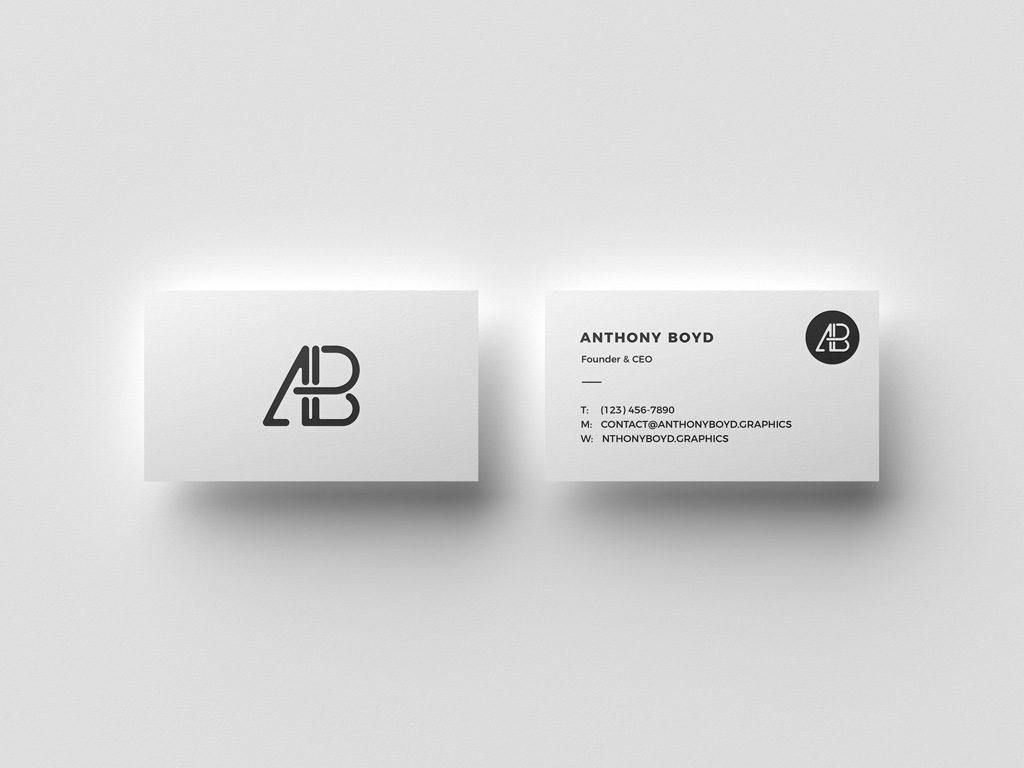Мокап парящих визиток. business cards mockup