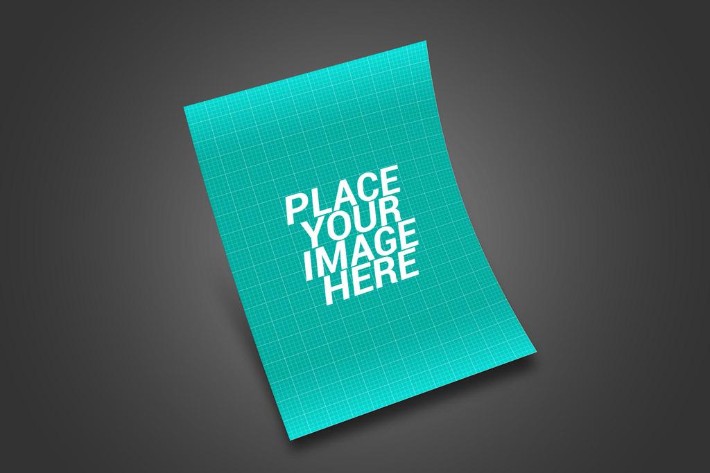PSD макет флаера. Flyer design presentation mockup bundle