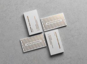 Мокап визиток psd. business cards showcasing mockup