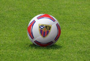 PSD мокап футбольного мяча