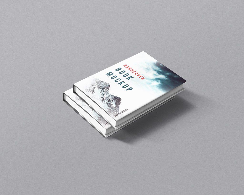 PSD мокап книги. hardcover books with sleeve mockup