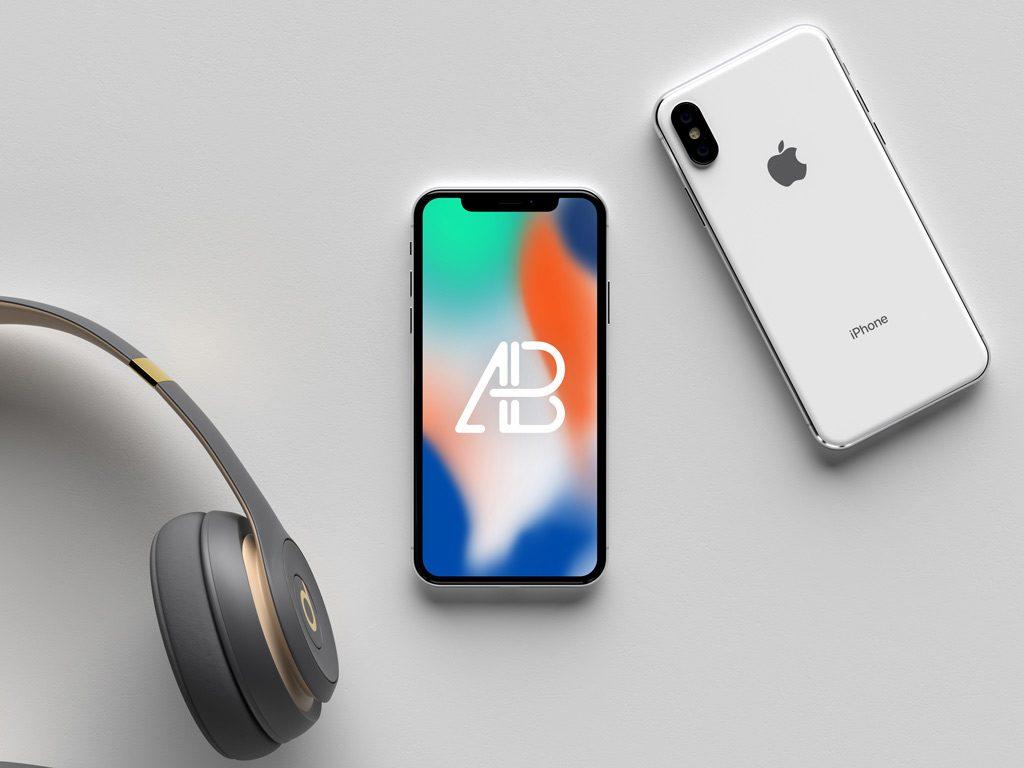 Mockup белого iPhone X