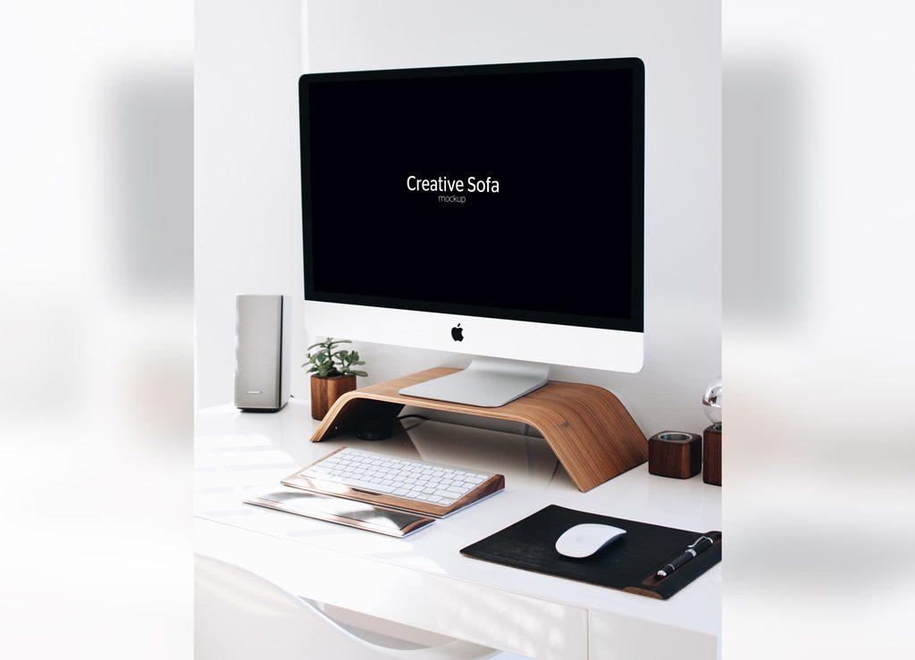 Вертикальный мокап iMac