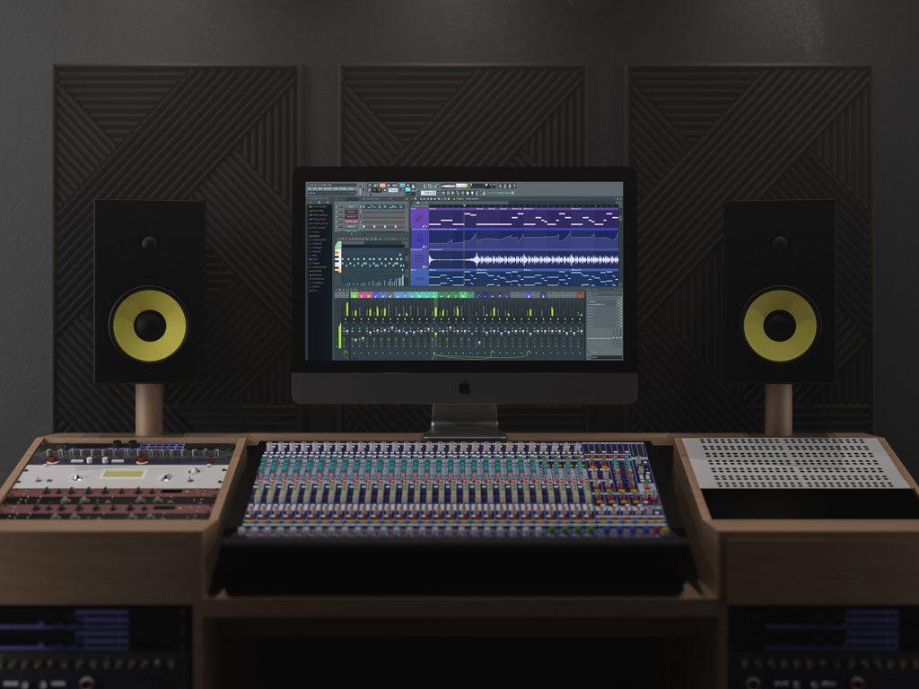 Мокап iMac Pro. imac pro in sound studio