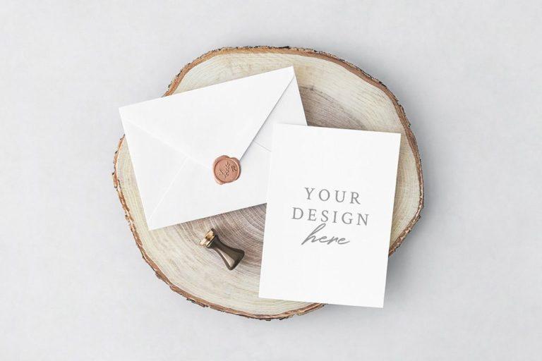 PSD макет конверта