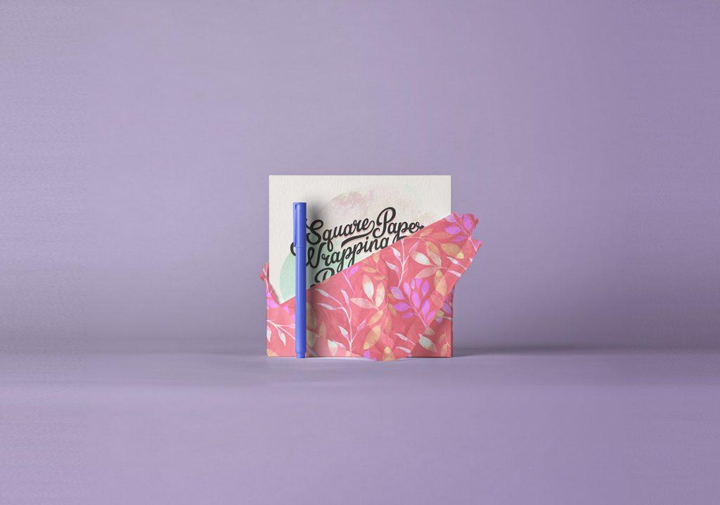 Мокап квадратной открытки. invitation card mockup