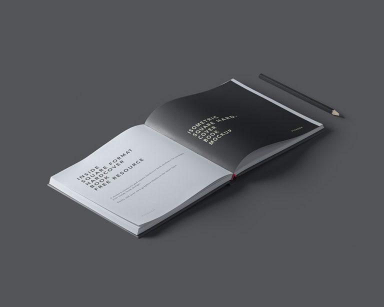 Мокап квадратной книги