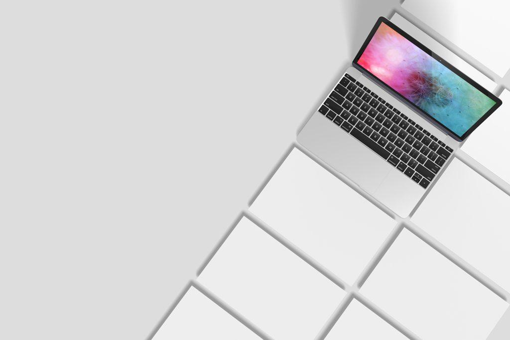 Мокап MacBook и веб-страниц. macbook showcase mockup