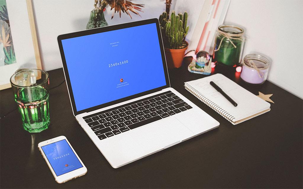 Мокап MacBook и iPhone. macbook and iphone mockup