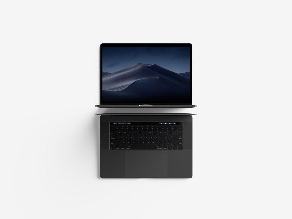 Мокап MacBook Pro. macbook pro with touchbar mockup