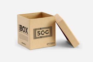 Мокап открытой коробки