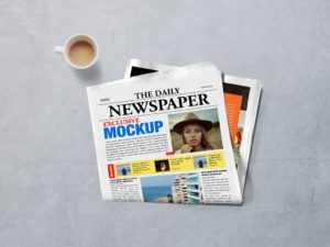 Мокап газеты. newspaper mockup