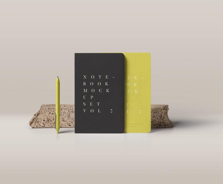 Мокап блокнотов. notebooks mockup