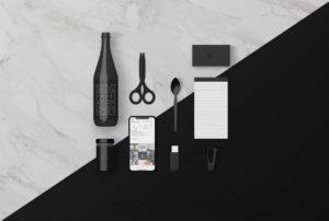 Мокап фирменного стиля. various desk objects mockups