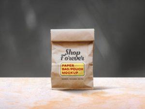 Мокап крафтового пакета. paper pouch mockup