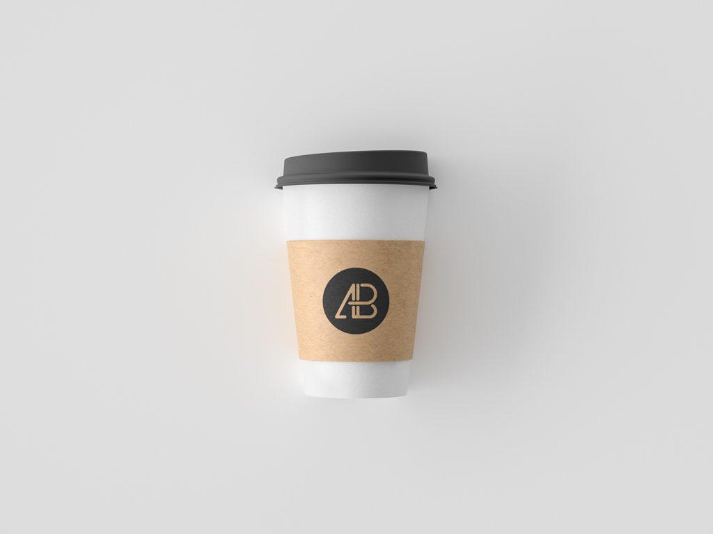 Мокап стакана кофе