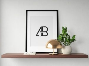 Мокап рамки. modern framed picture mockup