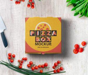 Мокап коробки для пиццы. pizza box mockup