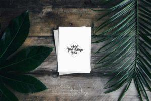 Mockup открыток