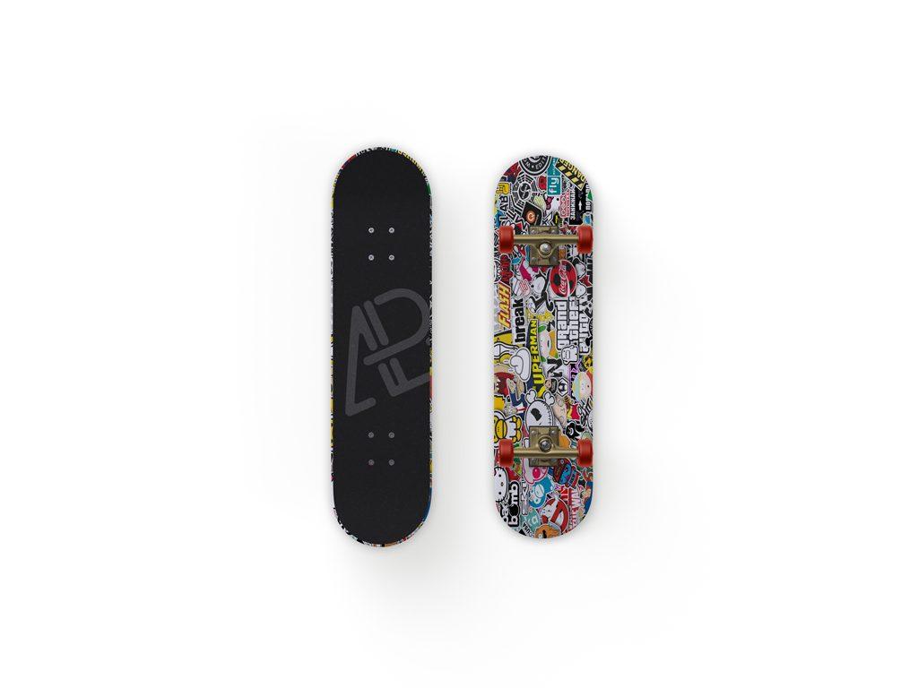 Мокап скейтборда. skateboard mockup