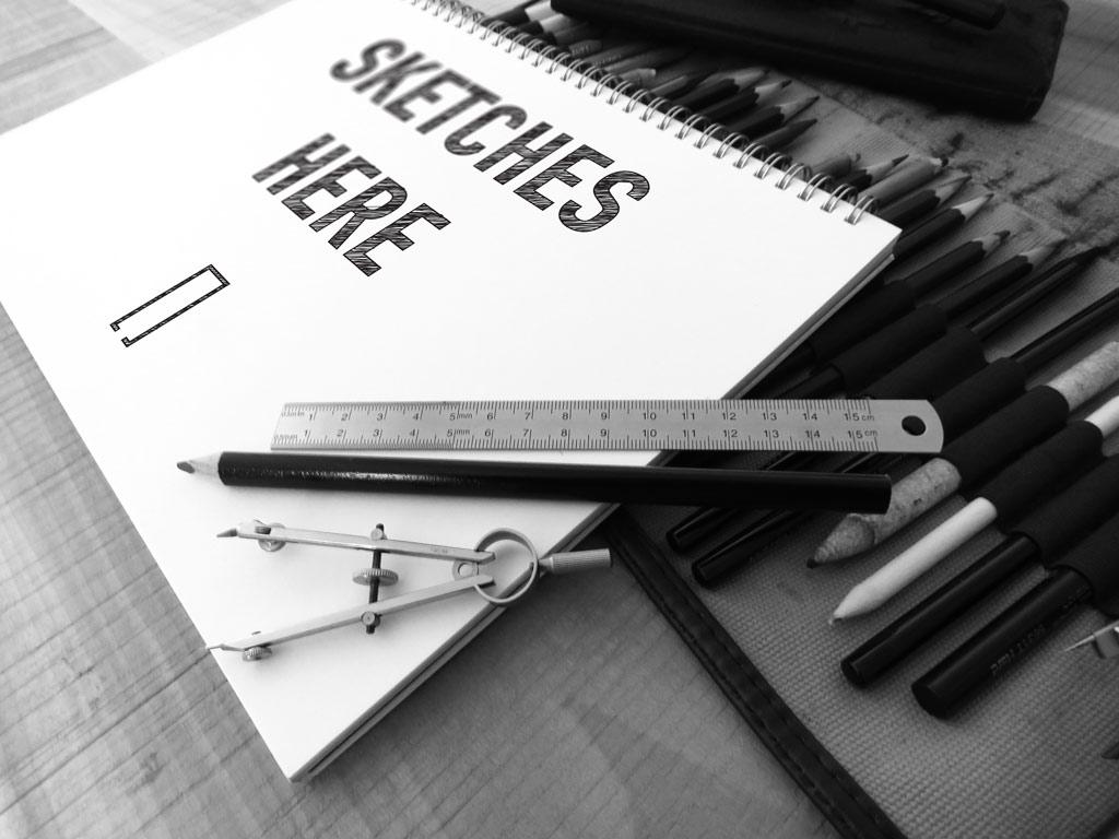 Мокап альбома для рисования. art sketchbook mockup set