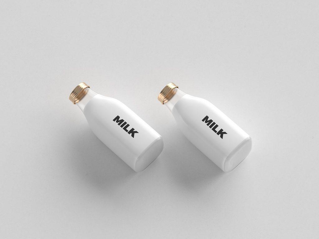 PSD мокап двух бутылочек. two small bottles mockup