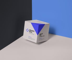 PSD мокап квадратной коробки. box mockup