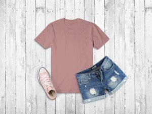 psd мокап футболки. t-shirt hmockup