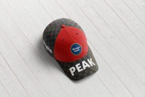 Мокап кепки. baseball cap top view mockup