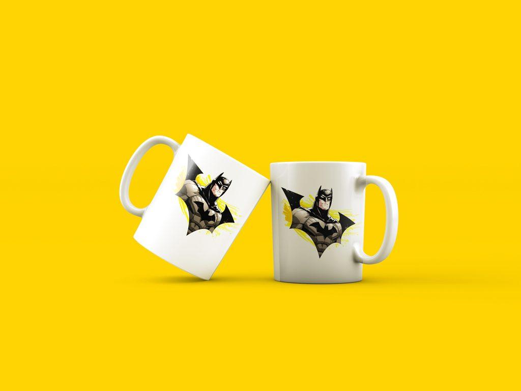 PSD мокап кружек. two cups mockup