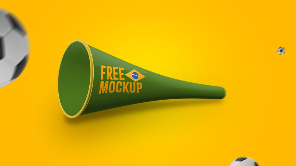 Мокап вувузелы. vuvuzela mockups