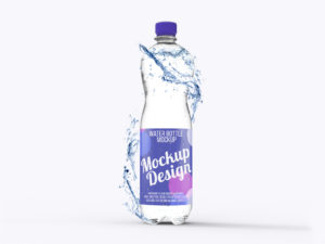 Мокап бутылки воды. water bottle mockup